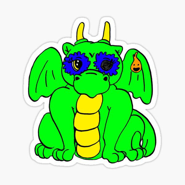The Dragon Yulie-Lisa Frank Style! Sticker