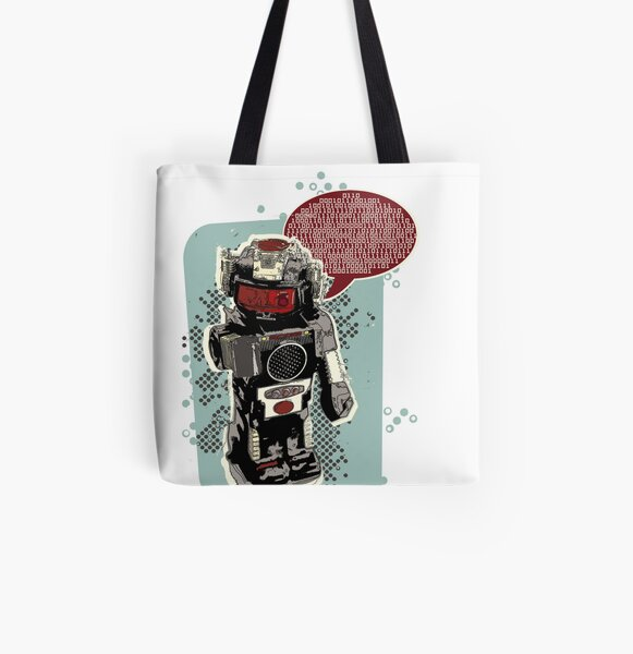 Robot Rex All Over Print Tote Bag