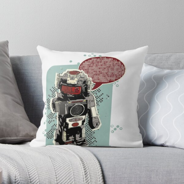 Robot Rex Throw Pillow