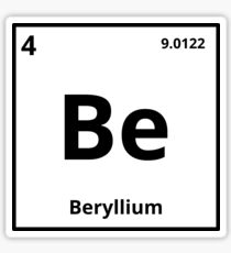 Beryllium stickers redbubble element beryllium sticker urtaz Choice Image