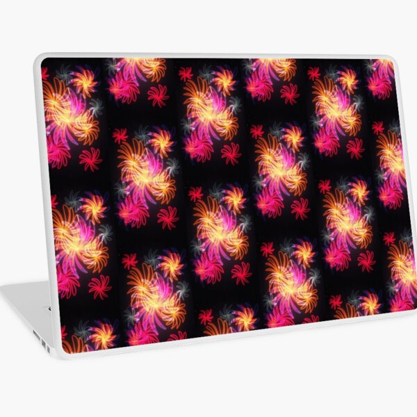 Flowery Fireworks Laptop Skin
