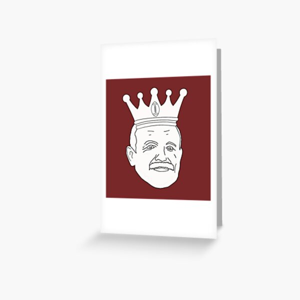 Wally is The King Greeting Card