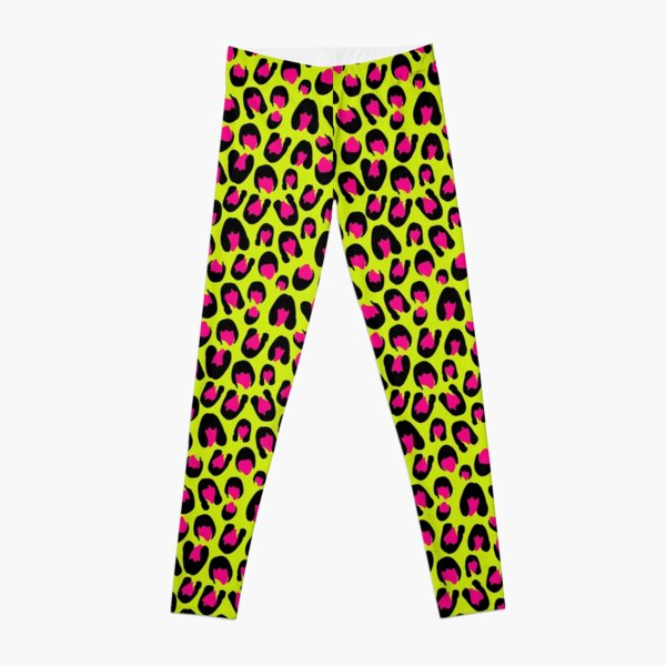 Punky Leopard Print (Green and Pink) Leggings