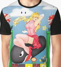 Peach Pinup Graphic T-Shirt