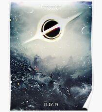 Schwarzes Loch-fiktiver Teaser-Film-Plakat-Entwurf Poster
