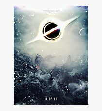 Black Hole Fictional Teaser Movie Poster Design Photographic Print