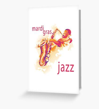 2016 Mardi Gras Jazz New Orleans NOLA 2016 Greeting Card