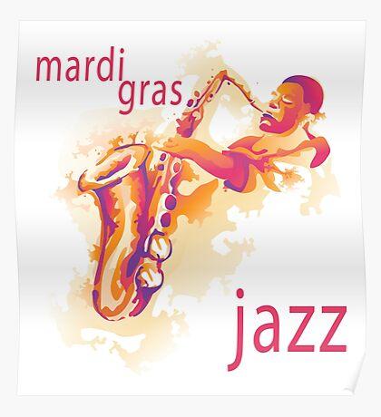 2016 Mardi Gras Jazz New Orleans NOLA 2016 Poster