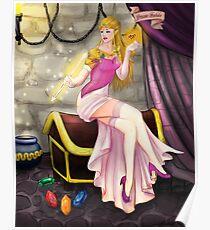 Princess Zelda Pinup Poster