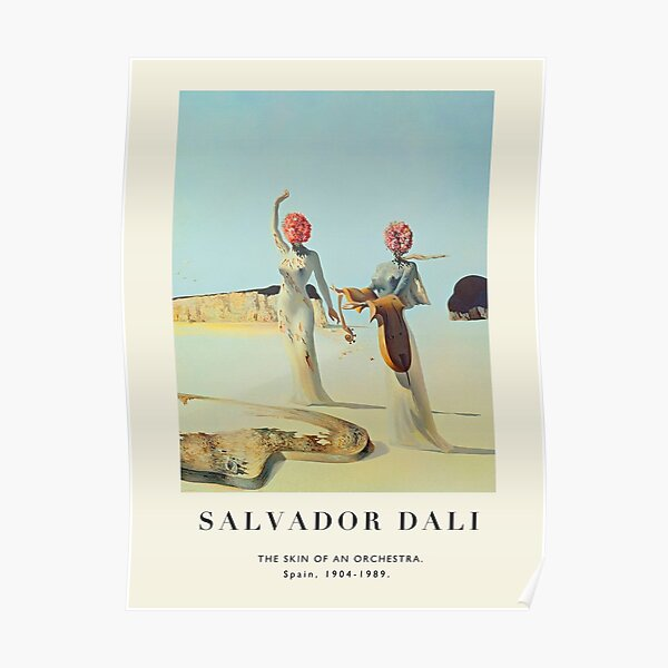 Poster-Salvador Dali-The Skin of an Orchestra. Poster