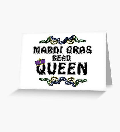 Mardi Gras Bead Queen New Orleans NOLA Greeting Card