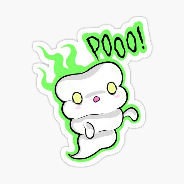 Pooo! caca fantasma Pegatina