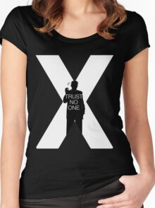♥♥♥ TRUST NO ONE X FILES ♥♥♥ Women's Fitted Scoop T-Shirt