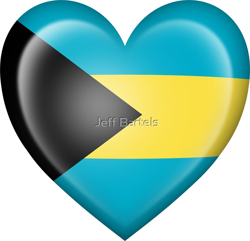 Bahamas heart flag by jeff bartels
