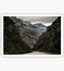 Foggy mountains over Neretva gorge Sticker