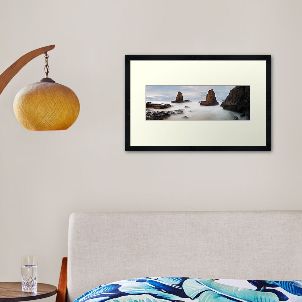 Cathedral Rocks, Kiama, New South Wales, Australia Framed Art Print