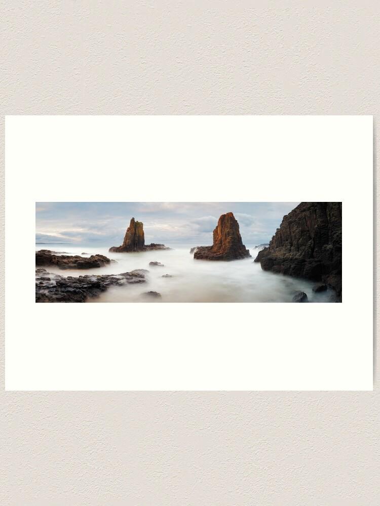 Alternate view of Cathedral Rocks, Kiama, New South Wales, Australia Art Print
