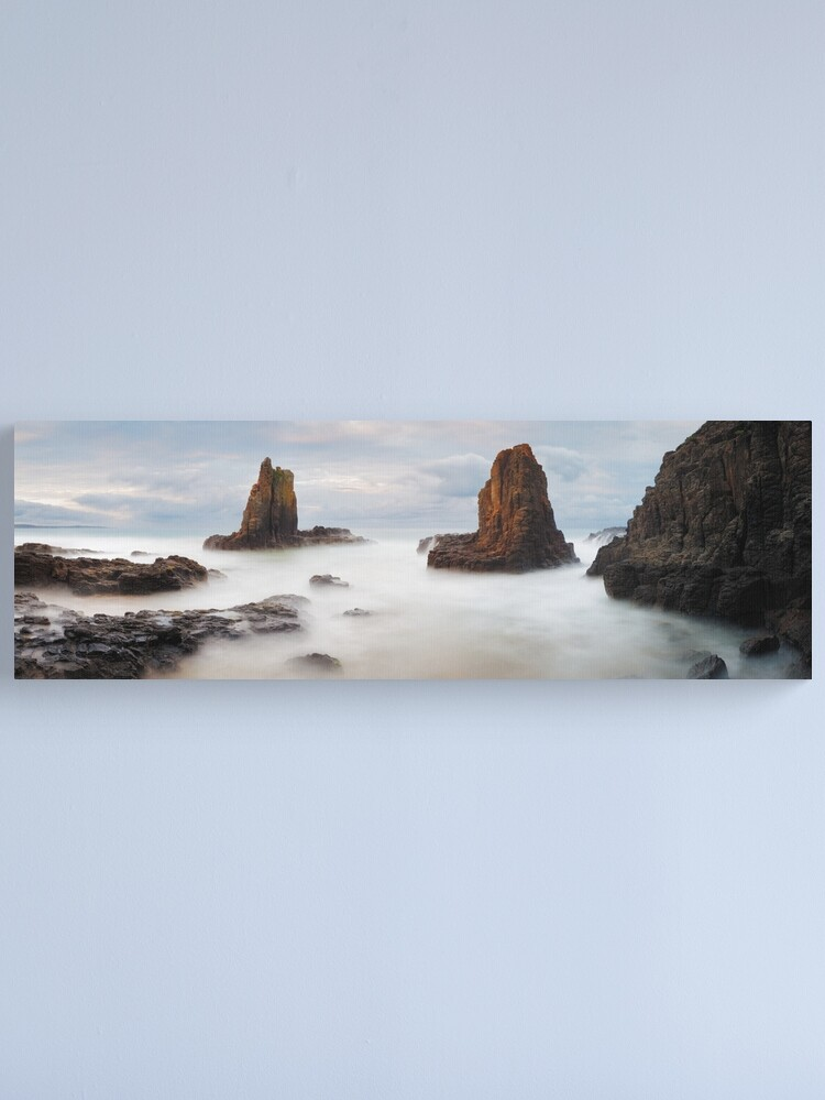 Alternate view of Cathedral Rocks, Kiama, New South Wales, Australia Canvas Print