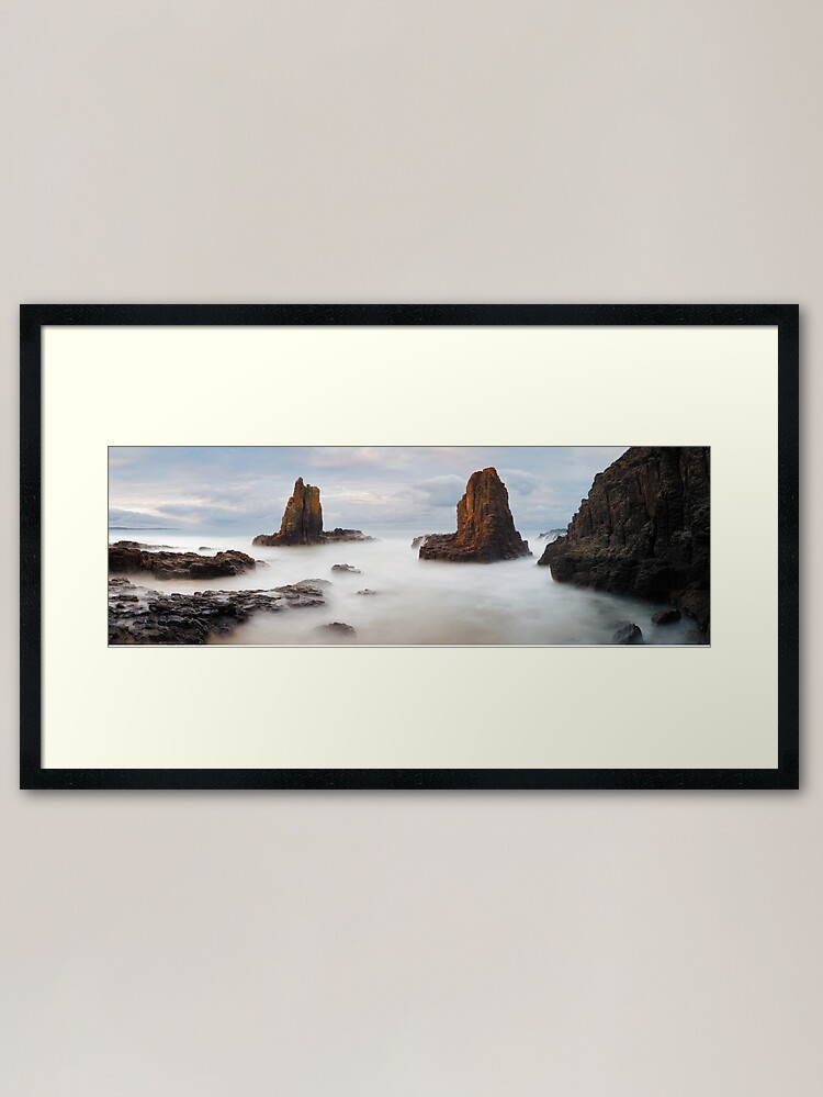 Alternate view of Cathedral Rocks, Kiama, New South Wales, Australia Framed Art Print