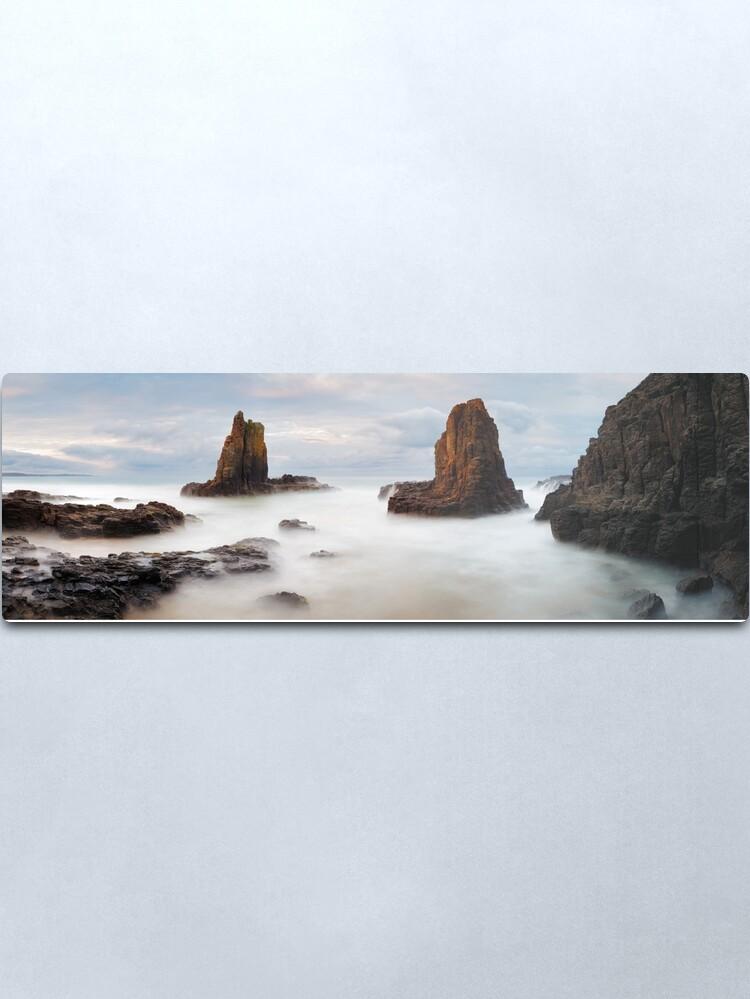 Alternate view of Cathedral Rocks, Kiama, New South Wales, Australia Metal Print