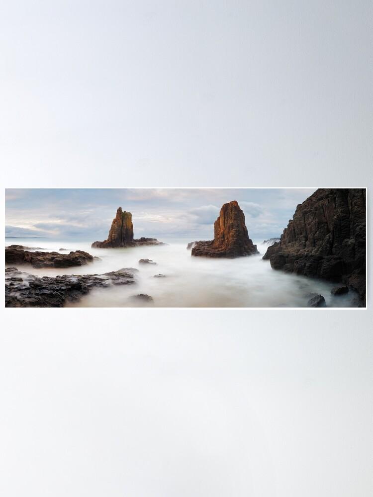 Alternate view of Cathedral Rocks, Kiama, New South Wales, Australia Poster