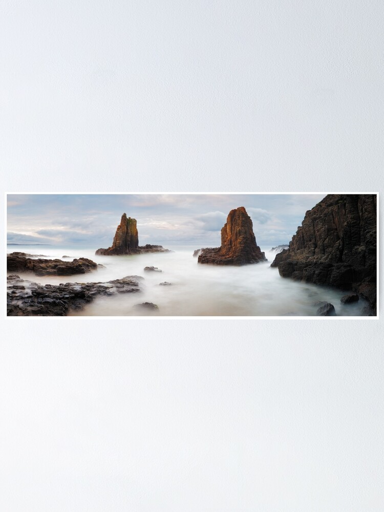 Alternate view of Cathedral Rocks, Kiama, New South Wales, Australia Poster