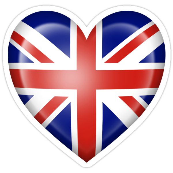 Union jack british heart flag stickers by jeff bartels - Dessin union jack ...
