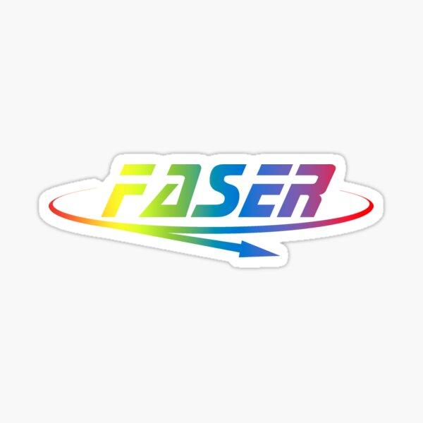 Faser Experiment Logo Big Rainbow Sticker