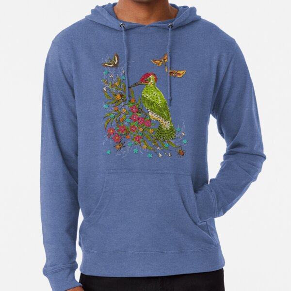 Floral Woodpecker Lightweight Hoodie