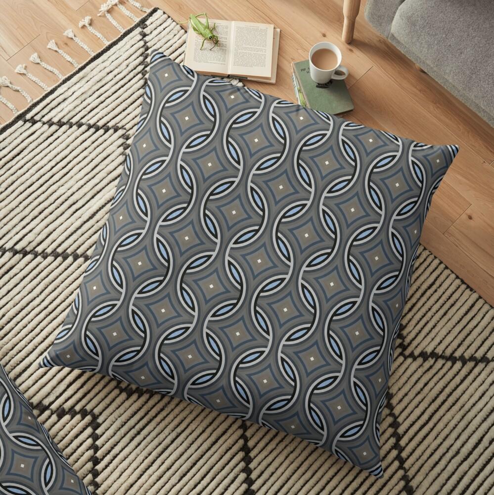 Modern Grey Classic Pattern Design 418 Floor Pillow
