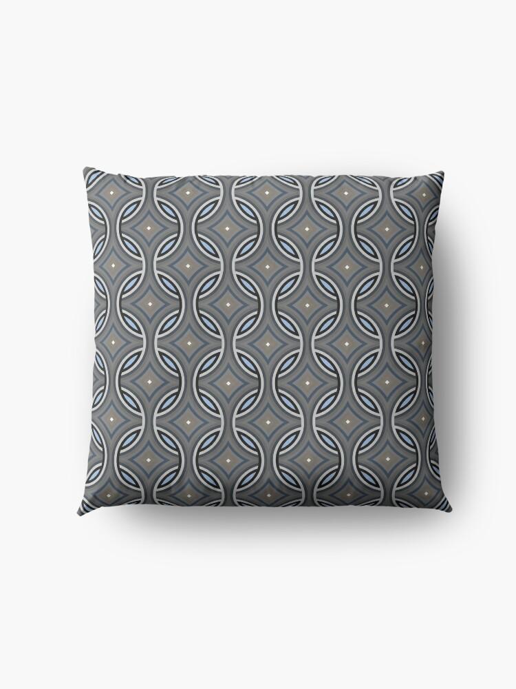 Alternate view of Modern Grey Classic Pattern Design 418 Floor Pillow