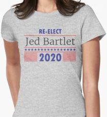 Re-Elect Jed Bartlet 2020 Stars and Stripes Women's Fitted T-Shirt