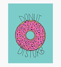 Donut Disturb Photographic Print