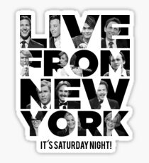 Live From New York, It's Saturday Night - Saturday Night Live Sticker