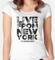 Live From New York, It's Saturday Night - Saturday Night Live Women's Fitted Scoop T-Shirt