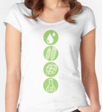BEER: Water, Barley, Hops & Yeast Women's Fitted Scoop T-Shirt