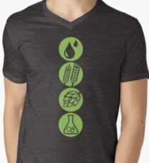BEER: Water, Barley, Hops & Yeast Men's V-Neck T-Shirt