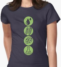 BEER: Water, Barley, Hops & Yeast Women's Fitted T-Shirt