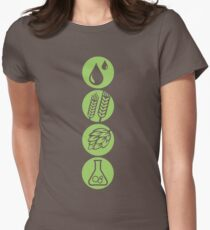 BEER: Water, Barley, Hops & Yeast Womens Fitted T-Shirt
