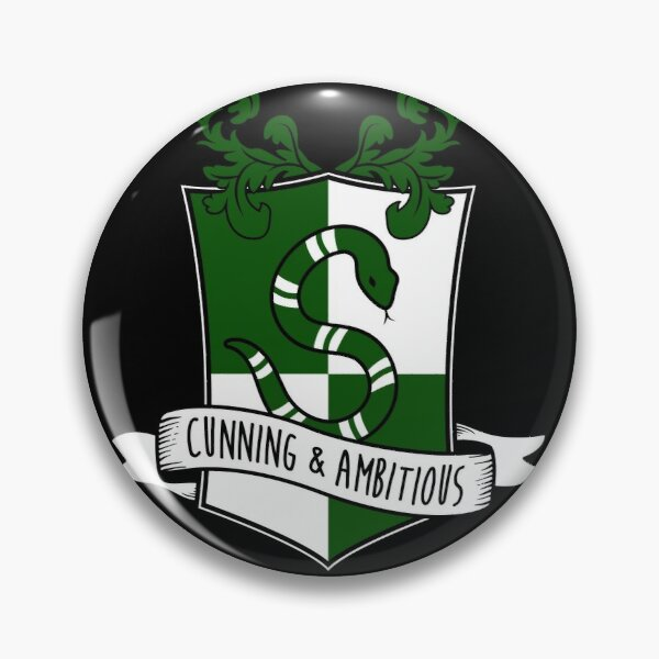 Cunning and Ambitious - S Snake Shield Pin