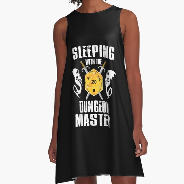 Sleeping With The Dungeon Dragons Master Funny T shirt A-Line Dress