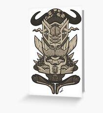 Buffalo Warrior Totem Greeting Card