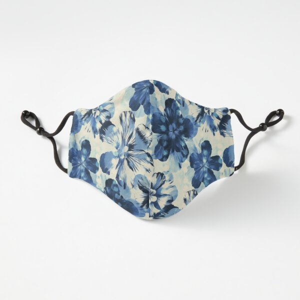 Shibori Inspired Oversized Indigo Floral Fitted 3-Layer