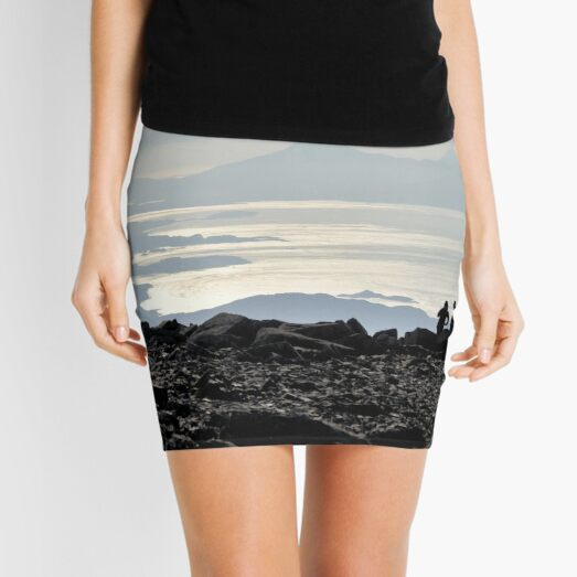 Mountains through the haze - Summit of Ben Nevis Mini Skirt