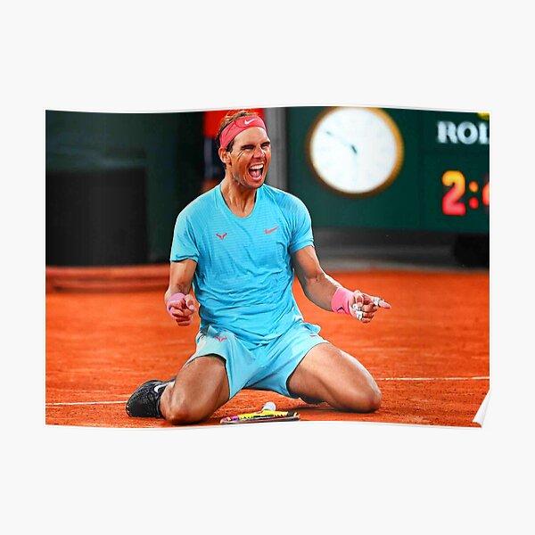 Rafael Nadal celebrando su victoria Póster