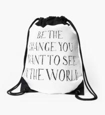 Mochila de cuerdas Sé el cambio que quieres ver en el mundo
