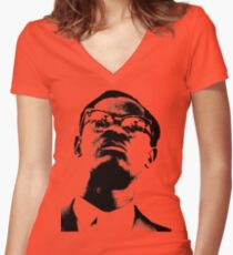 Patrice Lumumba Women's Fitted V-Neck T-Shirt
