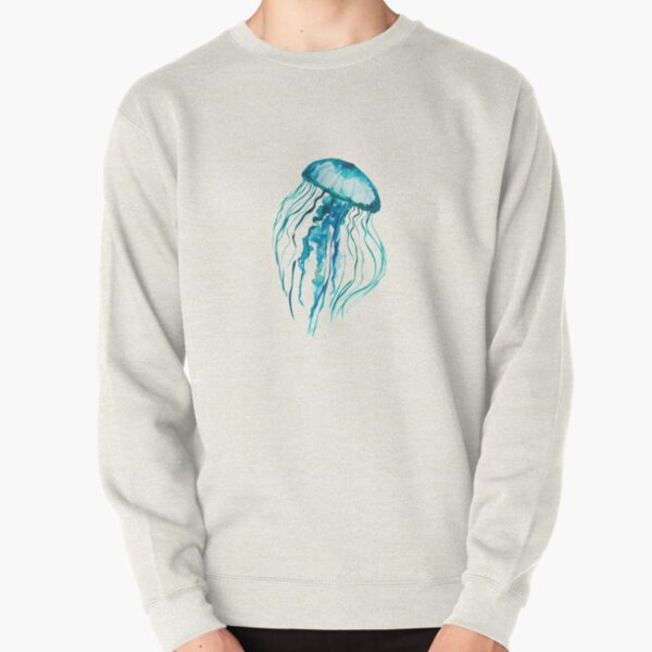 Watercolor Jellyfish Pullover Sweatshirt