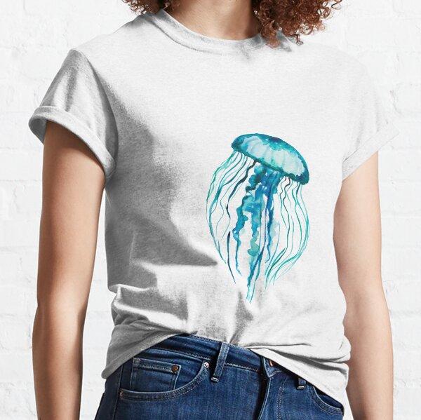 Medusa Acuarela Camiseta clásica