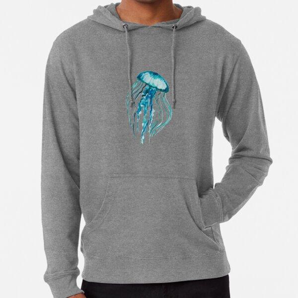 Méduse aquarelle Sweat à capuche léger